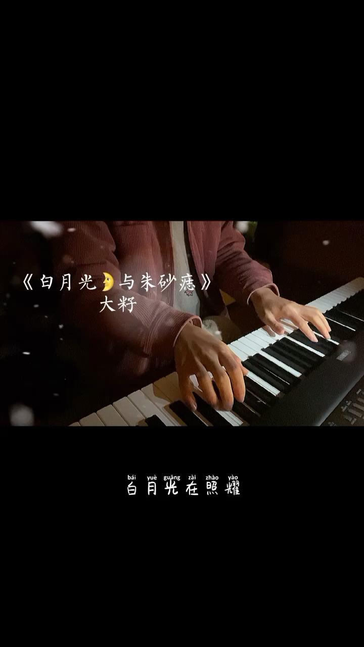 大籽-B-《白月光与朱砂痣》(原曲和声+公式化伴奏+全新精编+踏板指引+完整版)演奏视频