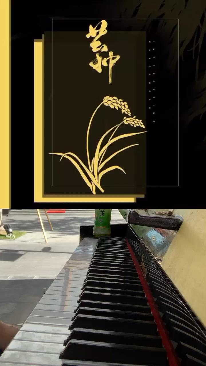 街头钢琴随手弹《芒种》,在原谱基础上有修改…演奏视频