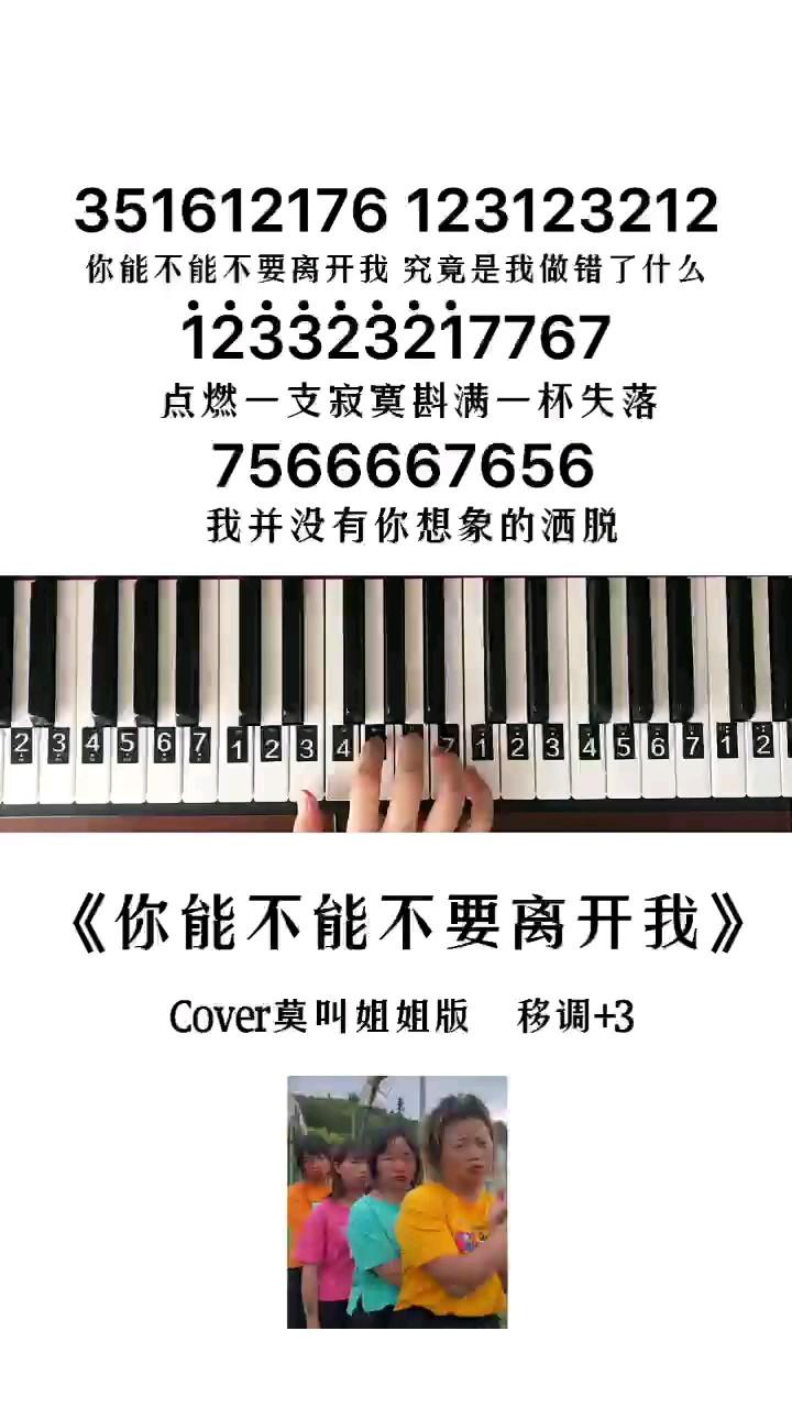 《你能不能不要离开我》钢琴简谱教程演奏视频