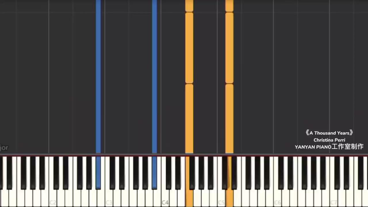 暮光之城【A Thousand Years】编配了一个舒缓一点的版本演奏视频
