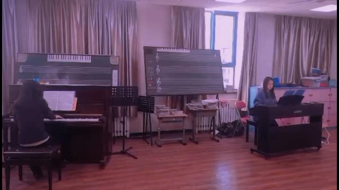 《夜的第七章》,第一次和小伙伴合奏双钢琴版演奏视频