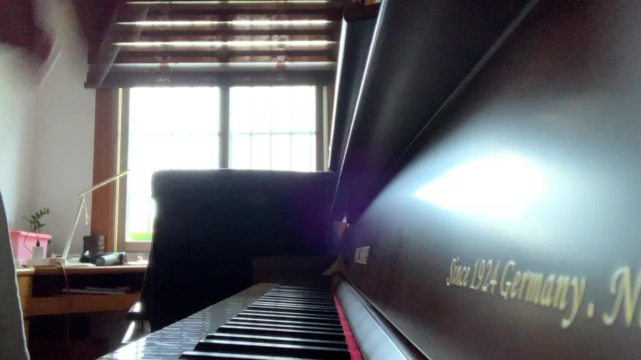 《赤伶》唯美钢琴版(周安老师)演奏视频