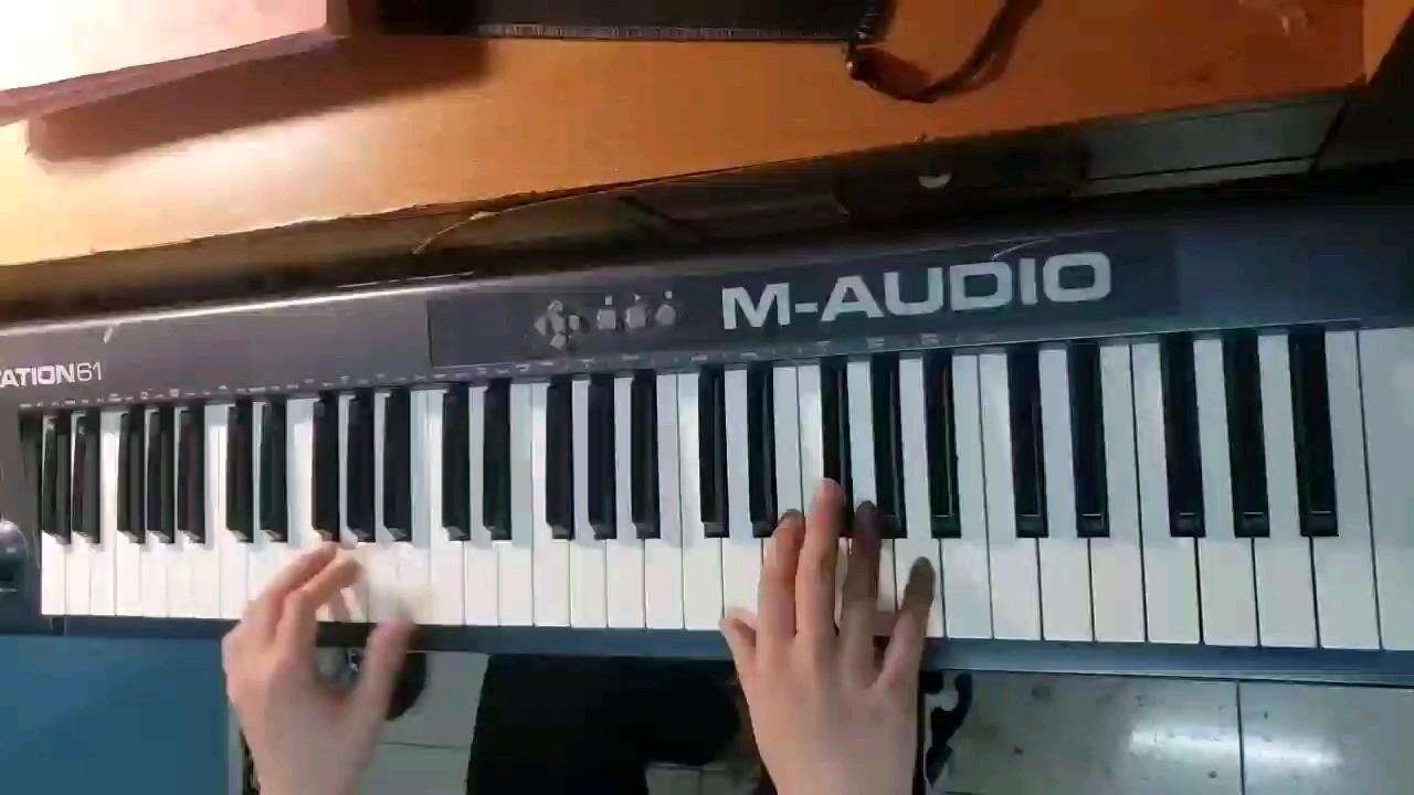 两年前宿舍用midi键盘弹奏的d大调卡农经典片段演奏视频