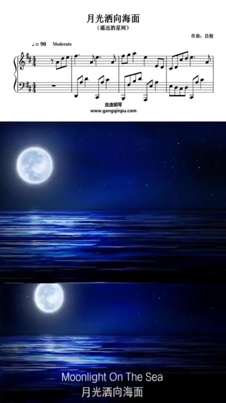 轻轻漫步海边,望着轻柔的月光洒向海面,就好像纯稚的爱恋,让温暖充溢心间……演奏视频