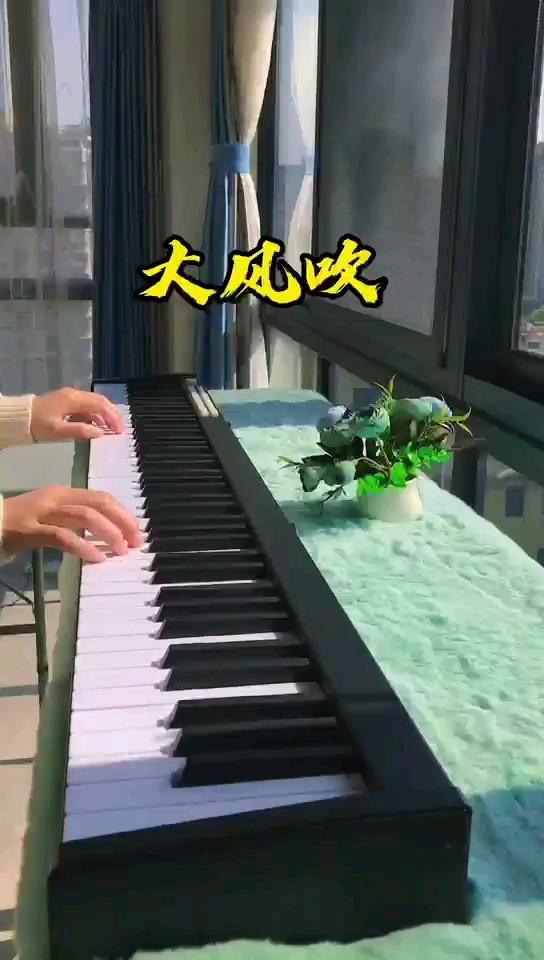 大风吹-王赫野-C调初学者简单版演奏视频