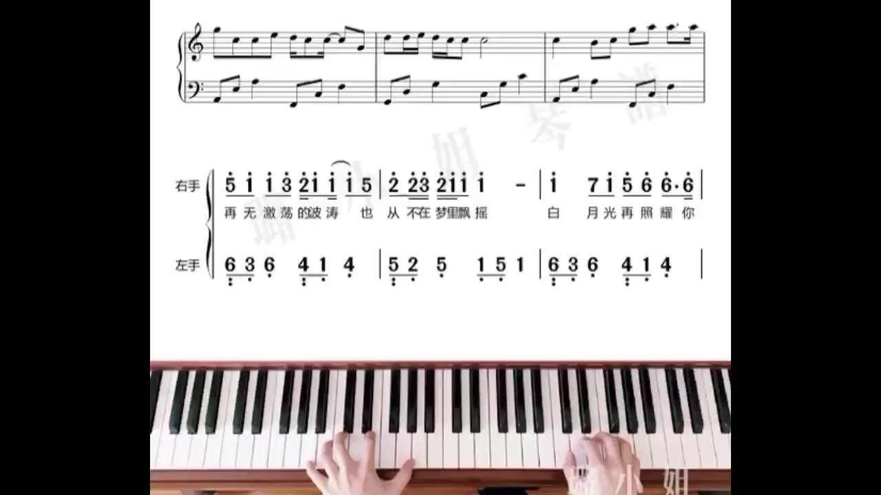 白月光与朱砂痣 - 完美C调简单版演奏视频