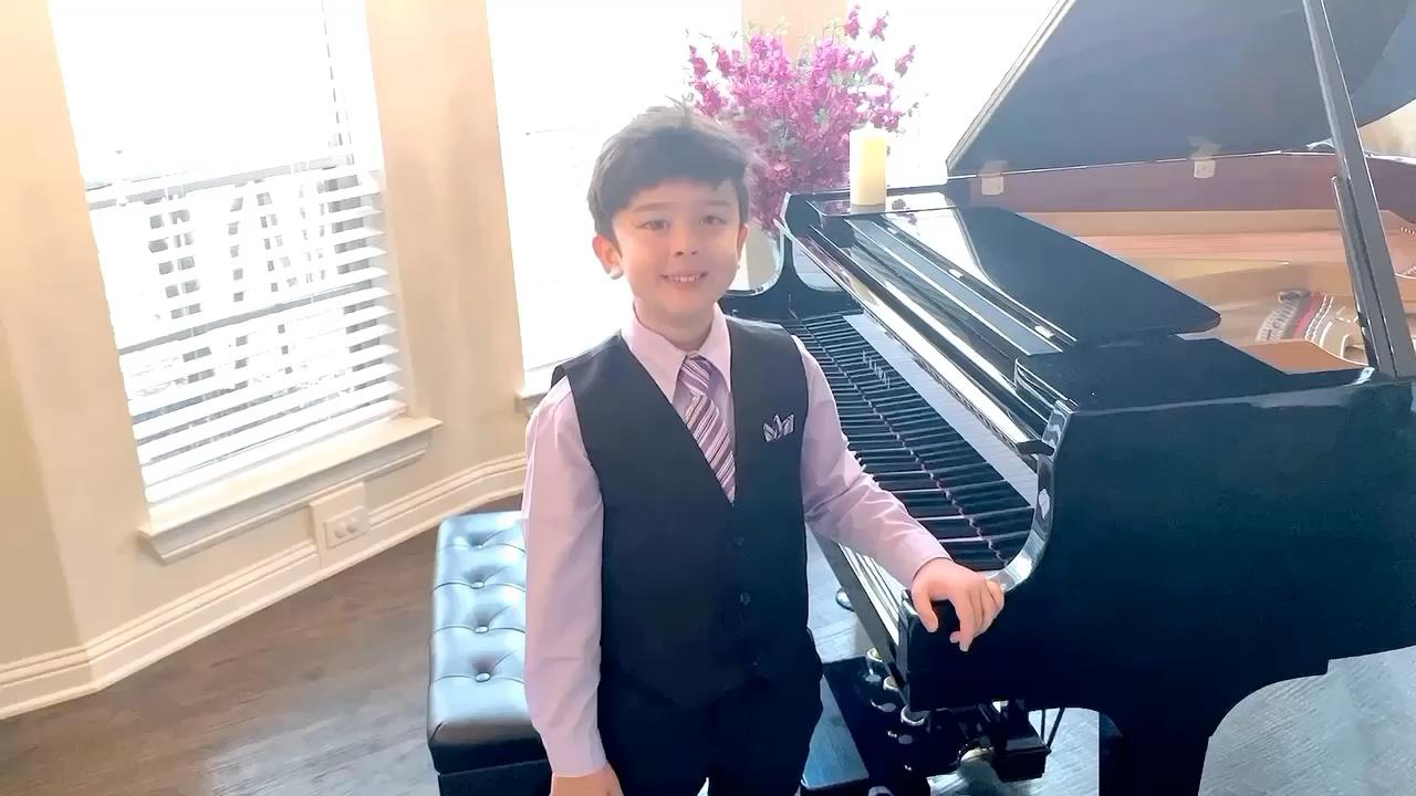 阿拉伯联合酋长国Fujairah国际钢琴比赛7-10岁组第二名完整视频。演奏视频